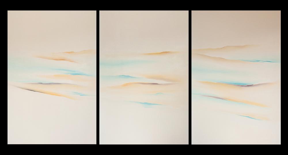 UP IX 3 2004 trittico - olio su tela - cm.150x300