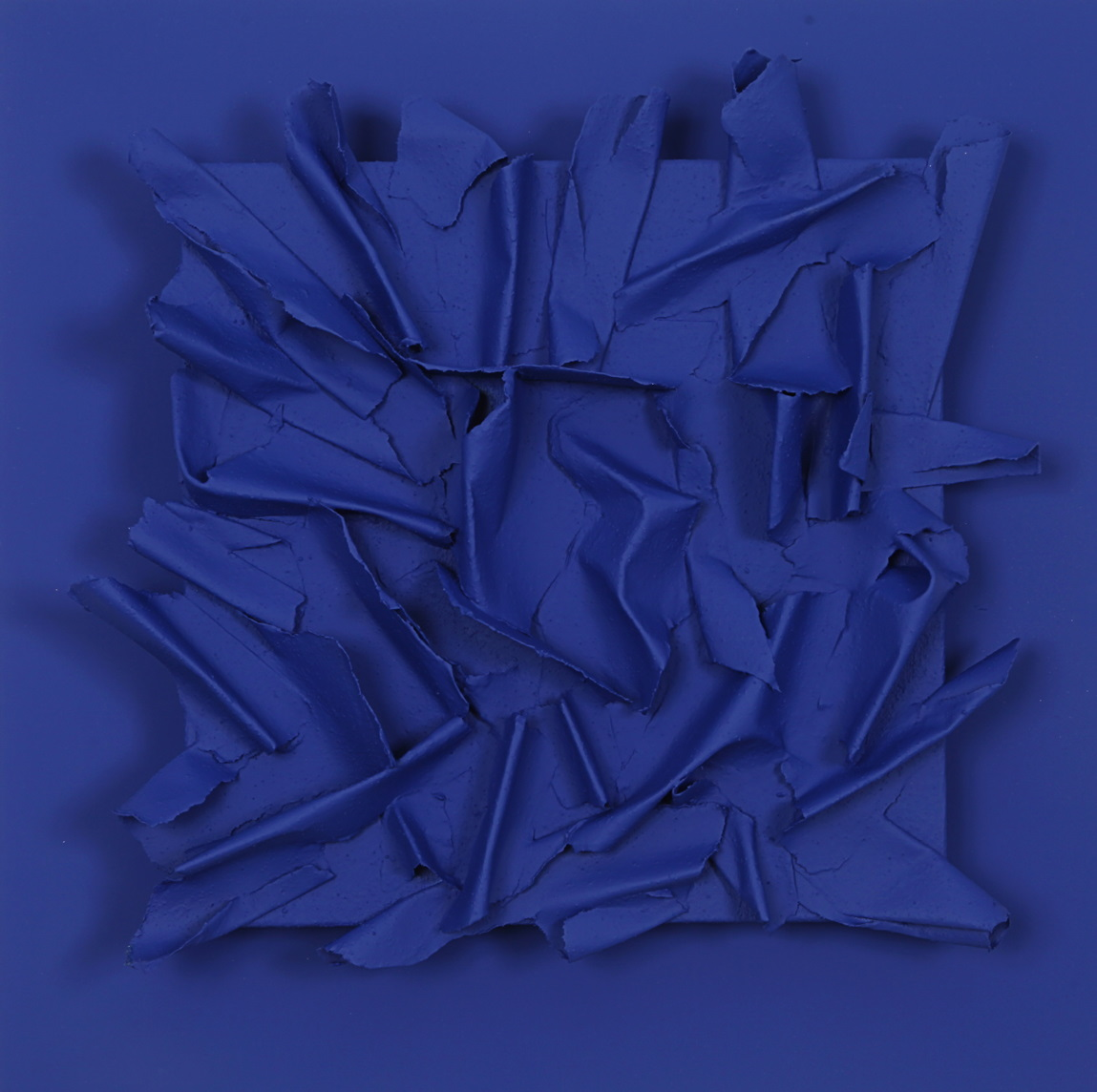E.C. XII 3 2020 - multimaterico su tavola - cm45x45