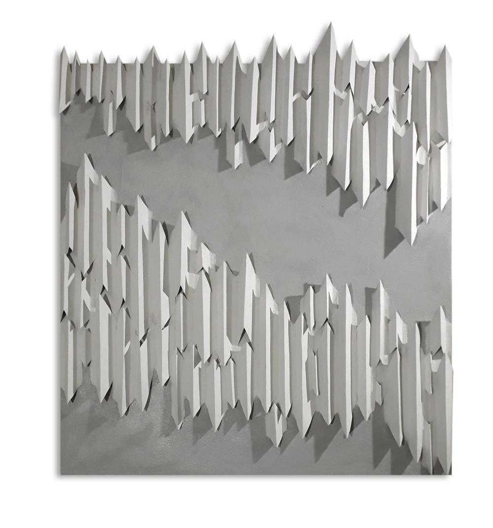 E.C. I 2 2020 - multimaterico su tavola - cm120x120