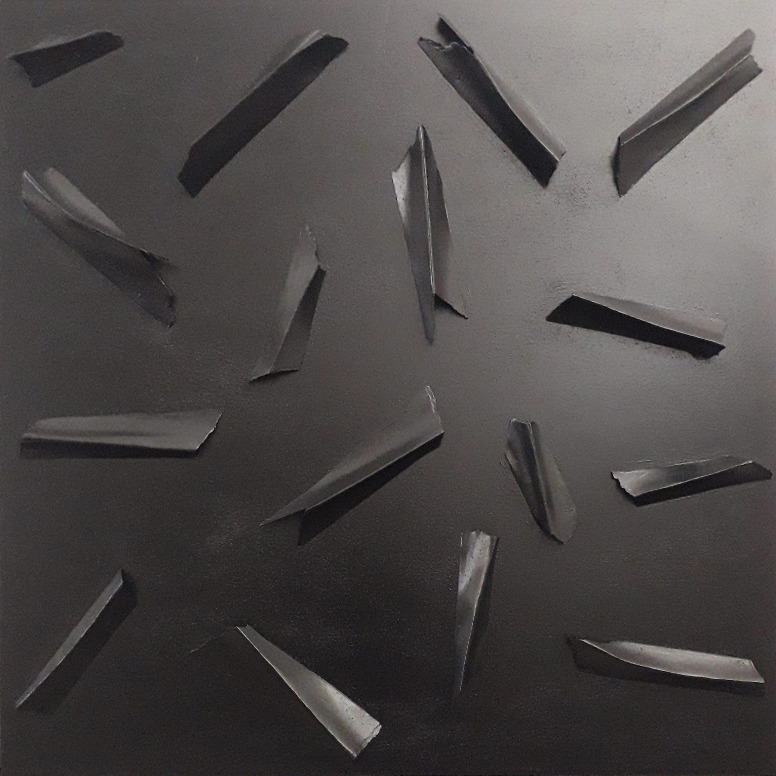 E.C. III 2 2021 - multimaterico su tavola - cm100x100