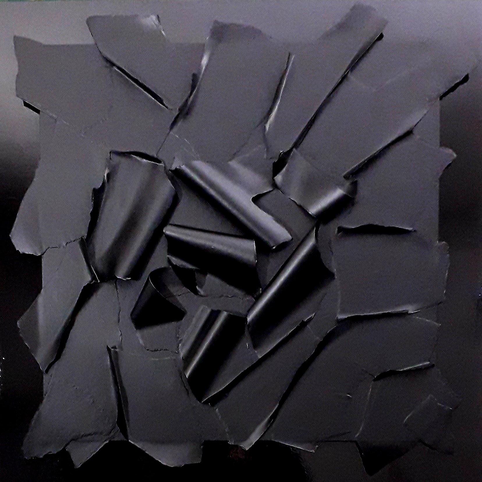 E.C. IV 1 2021 - multimaterico su tavola - cm100x100