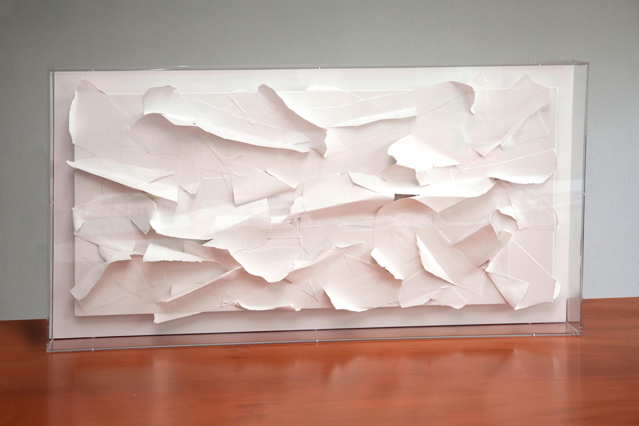 W. X 1 2012 multimaterico su tavola cm.60x100 con plexiglass